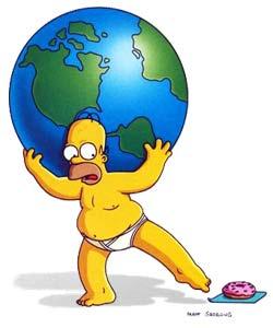 Homer traegt die ganze Welt :)