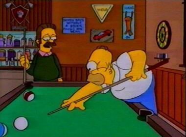 Homer spielt Billard