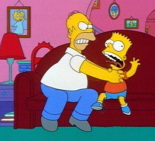 Homer Würgt Bart