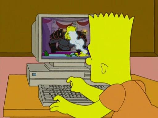 nackt Die Simpsons